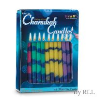Decorative Multicolored Chanukah Candles