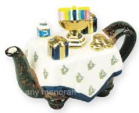 Square Hanukah Table Mini Teapot